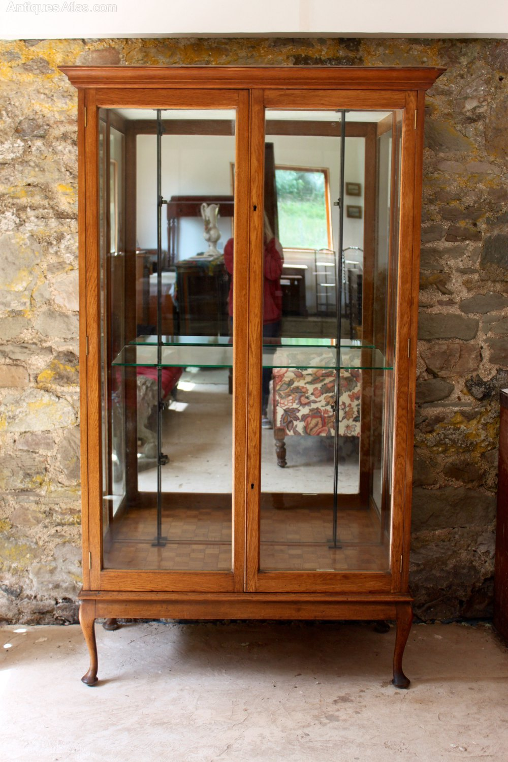 antique oak display cabinet oak display cabinet antiques atlas 4118