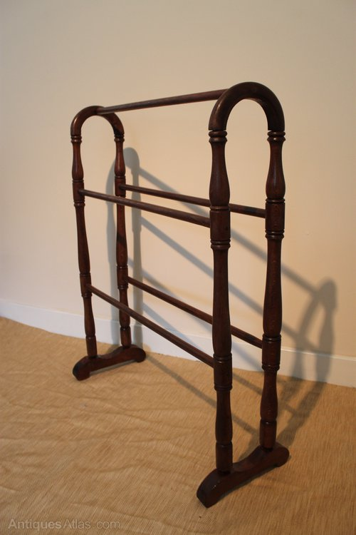 Victorian Beech Wood Towel Rail Antiques Atlas