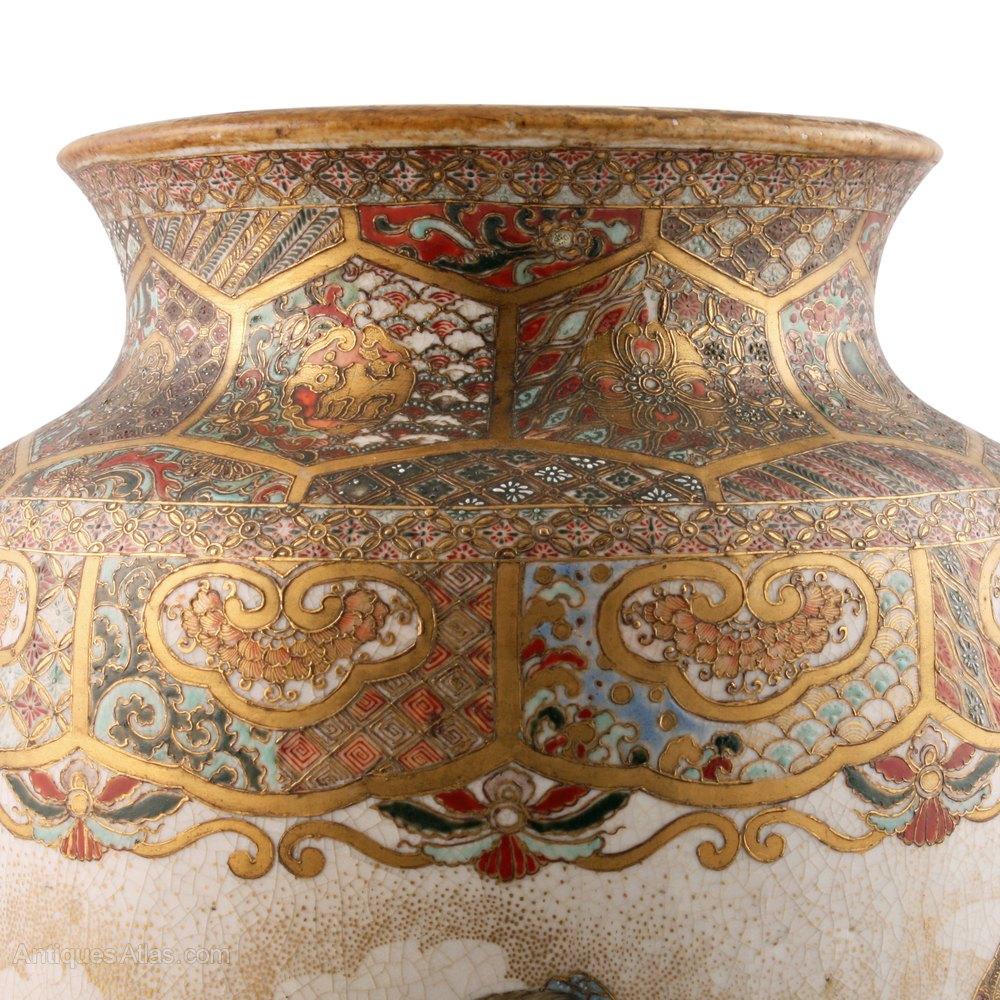 Antiques atlas 19th century japanese satsuma pottery vase vase satsuma reviewsmspy