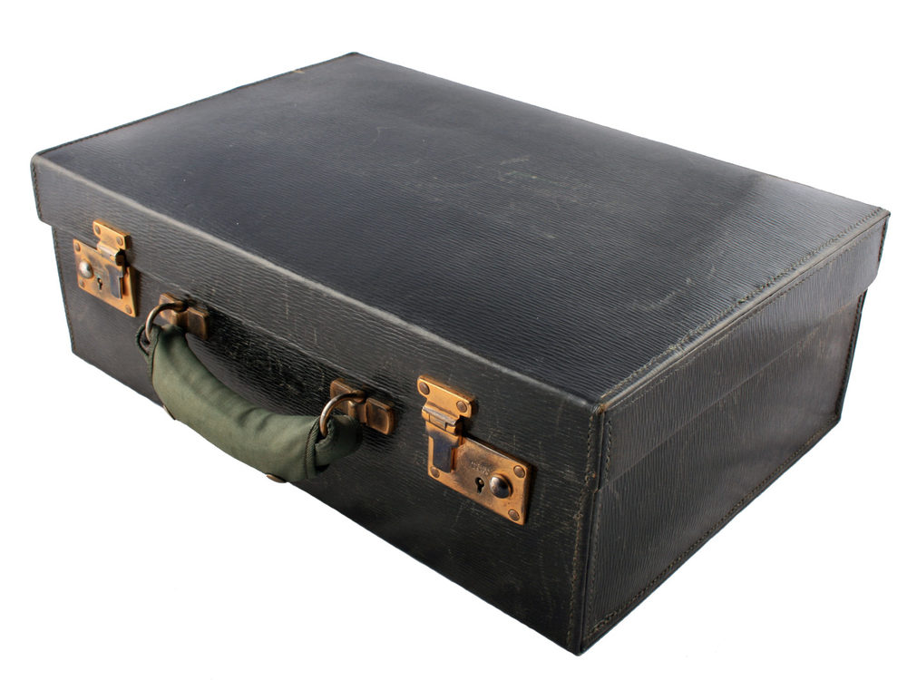 Antiques Atlas Fitted Leather Dressing Case