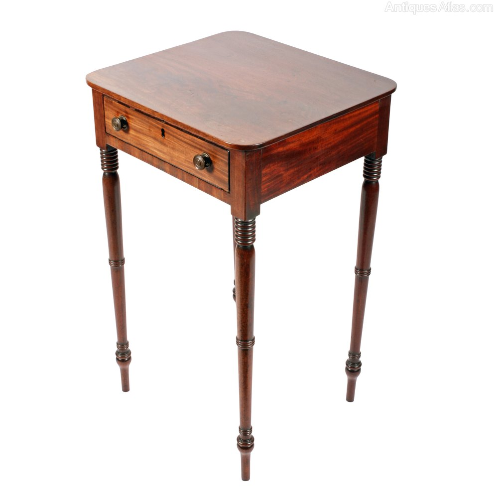 Georgian one drawer table antiques atlas for 1 drawer table