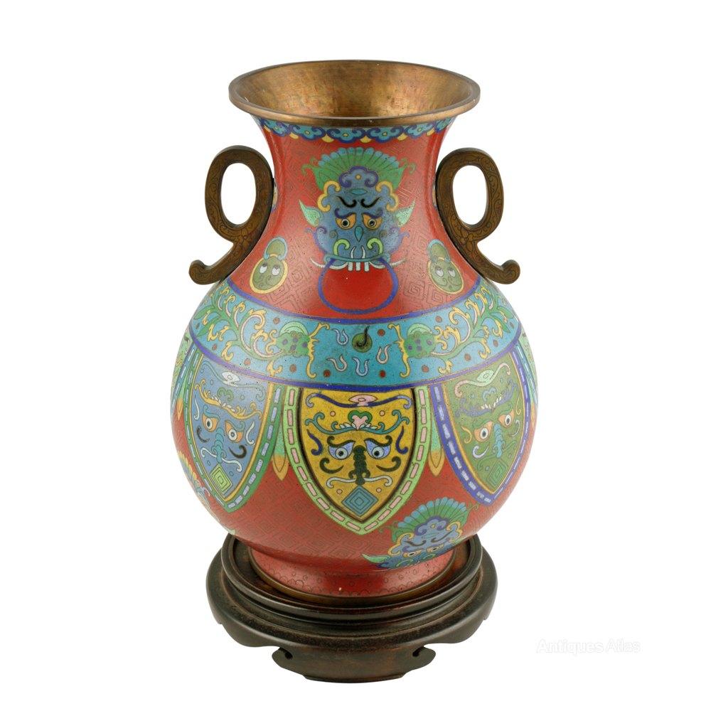 Antiques Atlas Japanese Cloisonn 233 Enamel Vase
