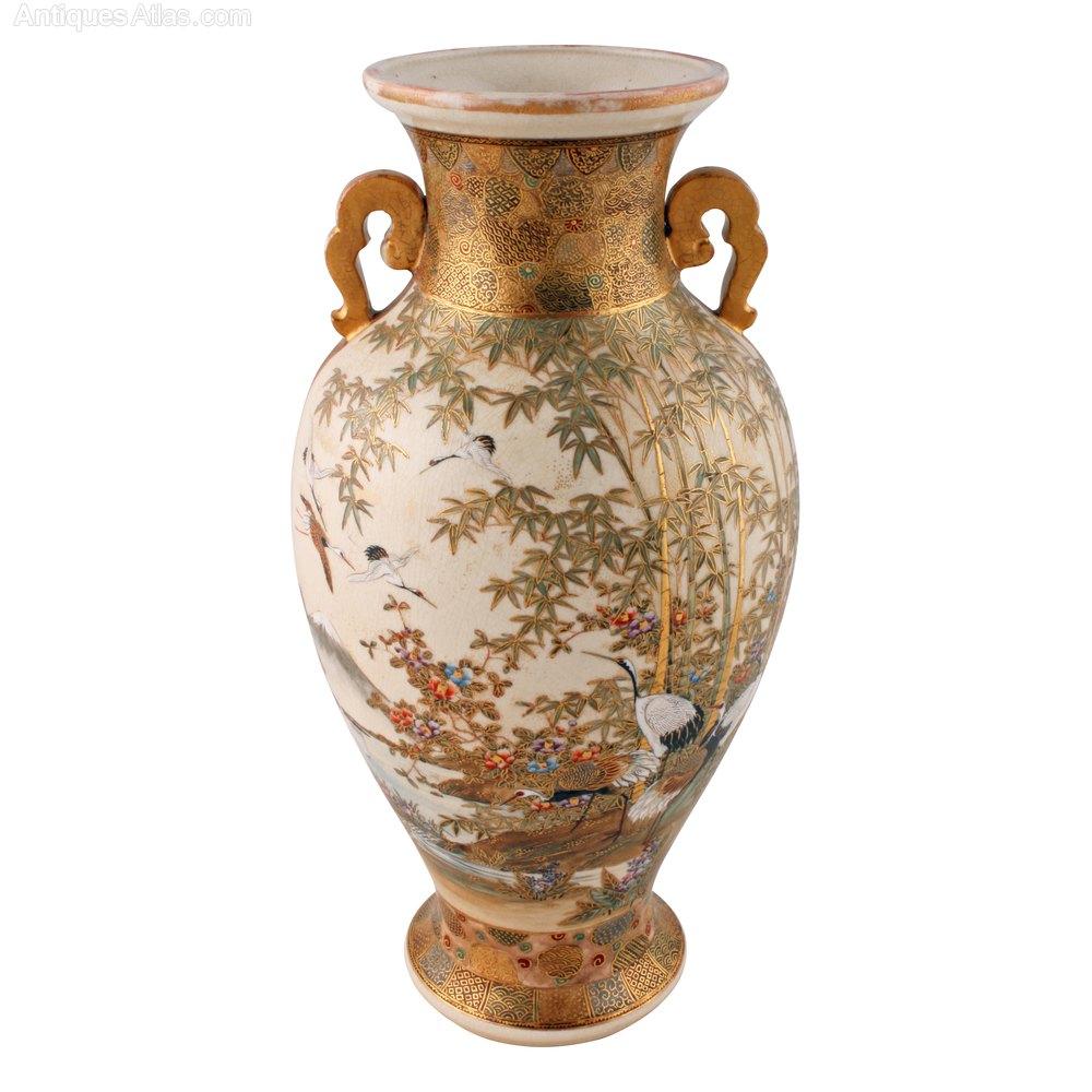 Antiques atlas japanese satsuma pottery vase japanese satsuma pottery vase reviewsmspy