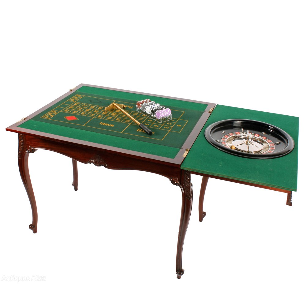 Mahogany Roulette Games Table Antiques Atlas