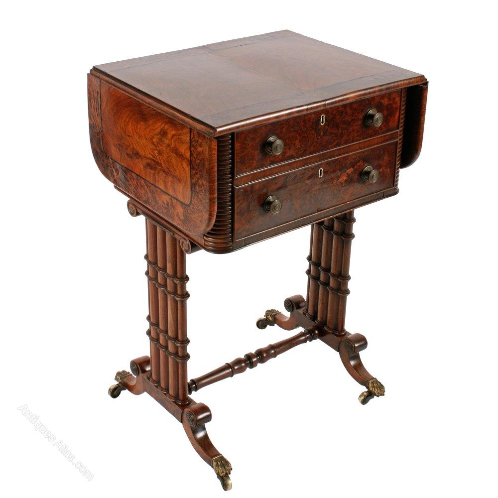 regency cluster column base side table antique side tables - Antique Side Tables