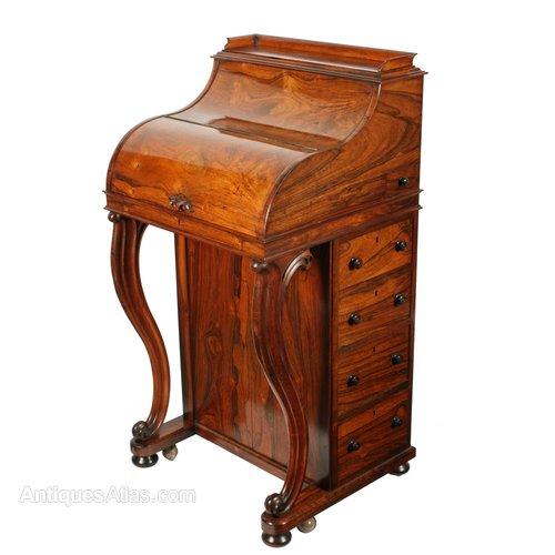 Rosewood Piano Top Davenport Desk - Rosewood Piano Top Davenport Desk - Antiques Atlas