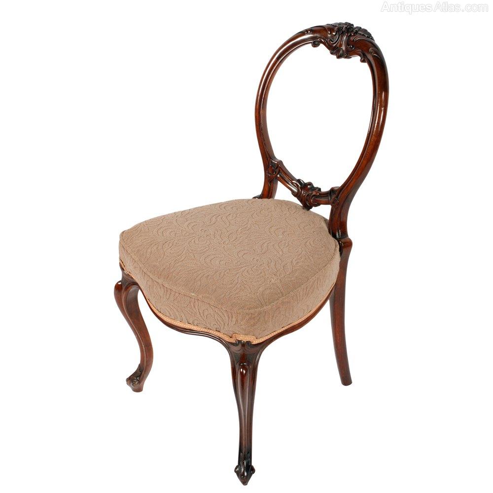 Six Walnut Cabriole Leg Chairs Antiques Atlas