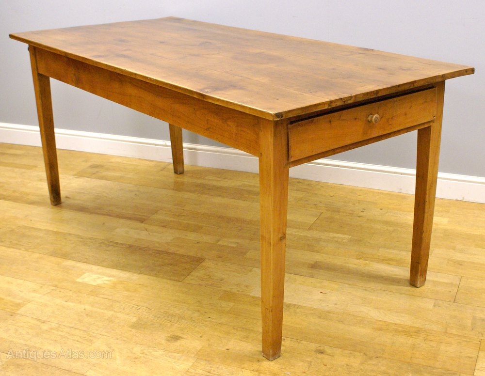 French 19th Century Cherrywood Farmhouse Table Tables Antiques