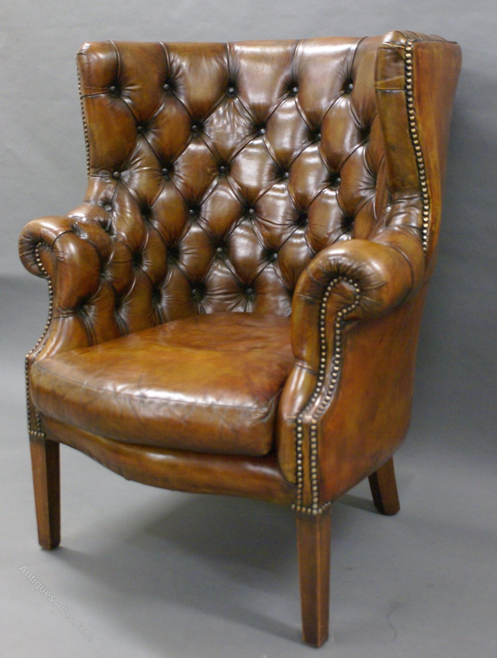 ... chair Antique Barrel Back ArmChairs ... - A Georgian Revival Leather Upholstered Barrel Back Chair