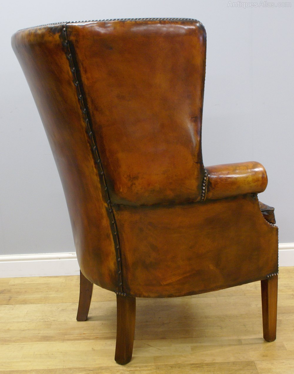 Picture of: A Georgian Style Barrel Back Wing Chair Antiques Atlas