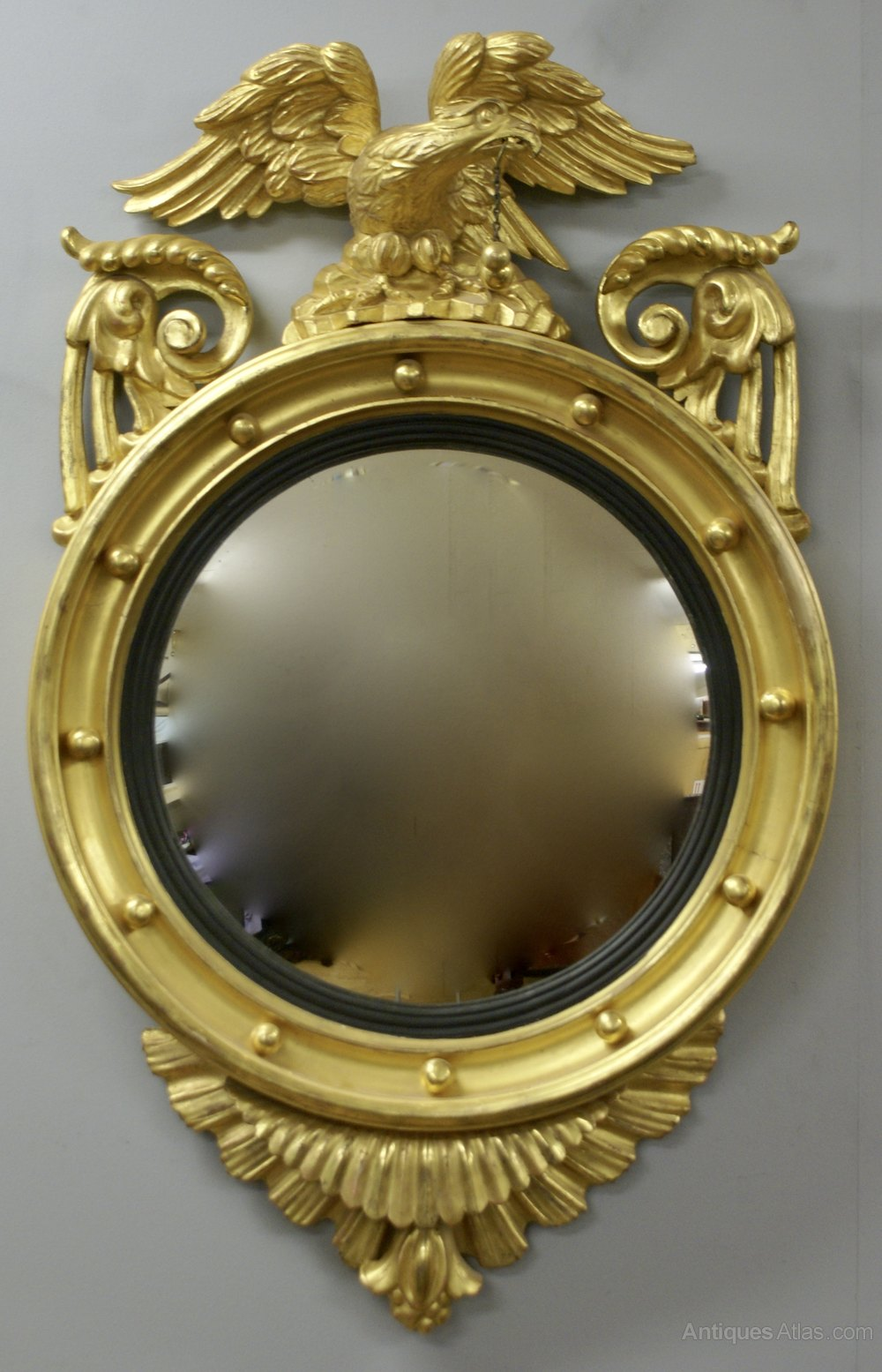 Antiques atlas a regency carved gilt convex mirror for What is a gilt mirror
