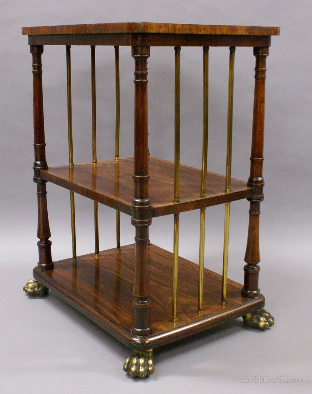 a regency rosewood and brass etagere antiques atlas. Black Bedroom Furniture Sets. Home Design Ideas