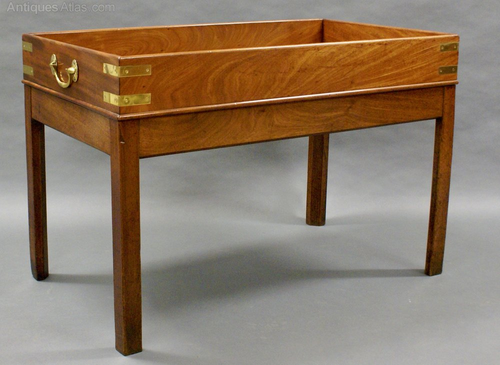 A Mahogany Butlers Tray On Stand Coffee Table Antiques Atlas