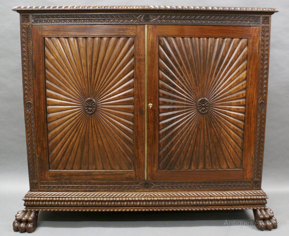 An anglo indian carved cabinet antiques atlas for Carved kitchen cabinets