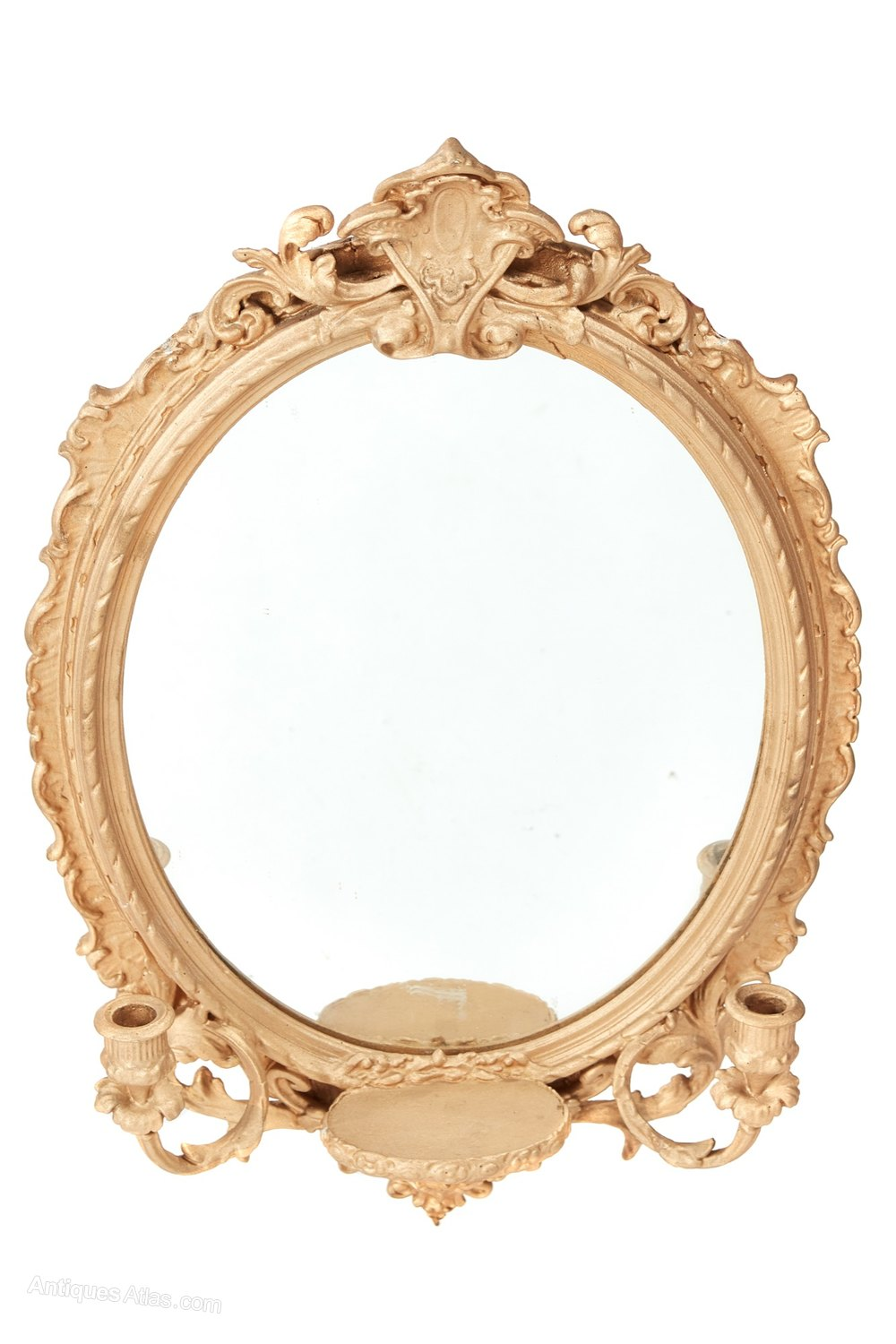 Antiques atlas antique oval wall mirror for Antique wall mirrors