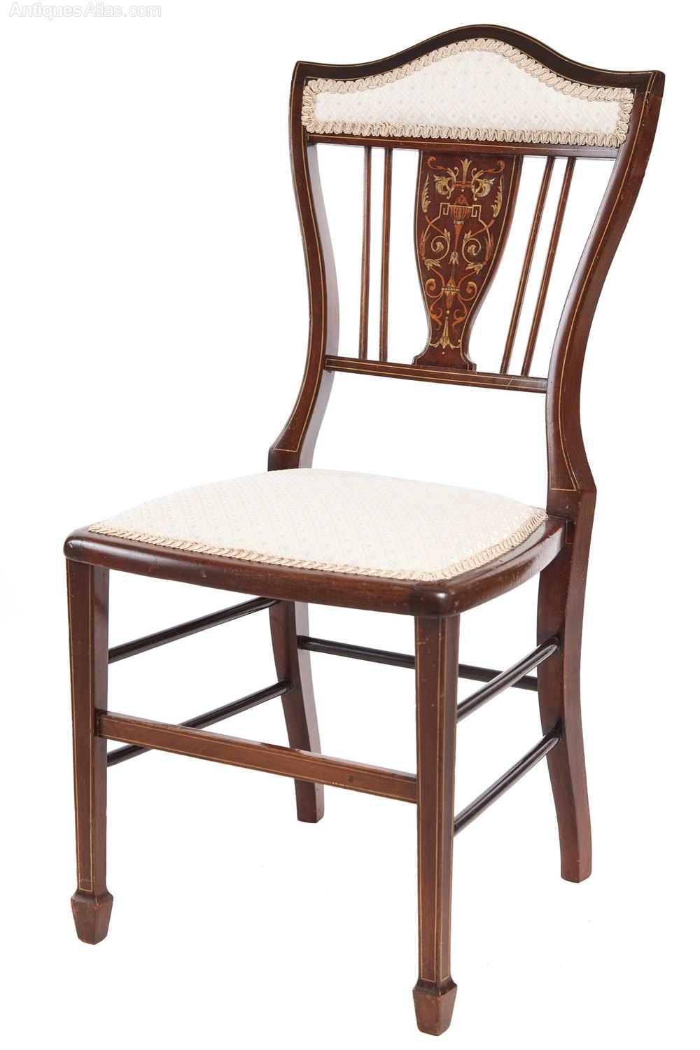 Edwardian Inlaid Bedroom Chair Antiques Atlas