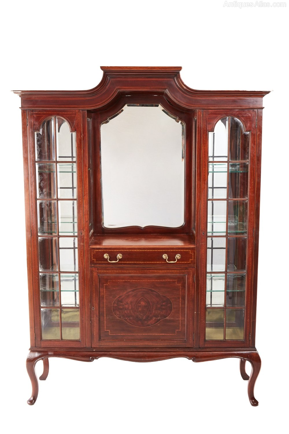 Edwardian Inlaid Mahogany Display Cabinet By Maple Antiques Atlas