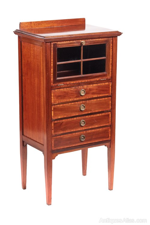 freestanding kitchen cabinet edwardian inlaid cabinet antiques atlas 1074