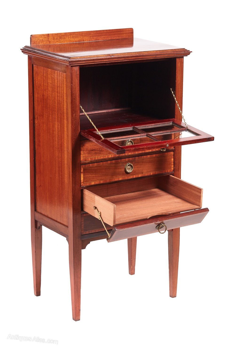 Delicieux Edwardian Inlaid Music Cabinet Antique Music Cabinets ...