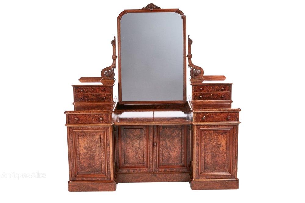 Exhibition victorian burr walnut dressing table antiques for Walnut dressing table