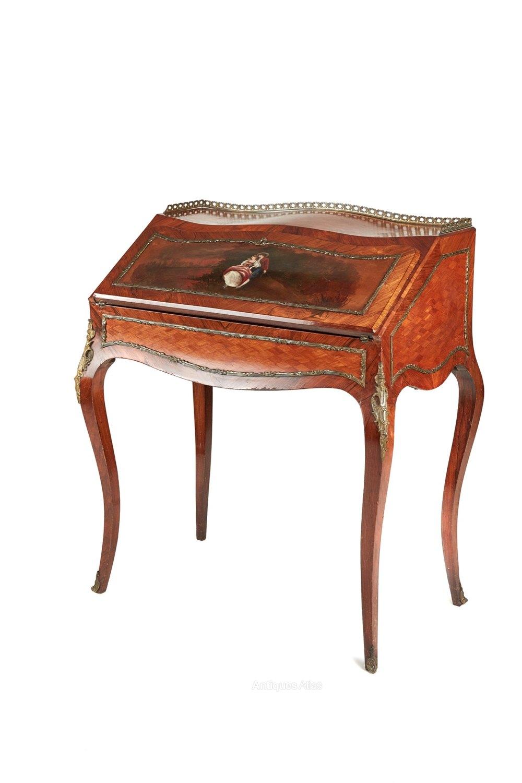 French Kingwood And Parquetry Bureau De Dame Antiques Atlas