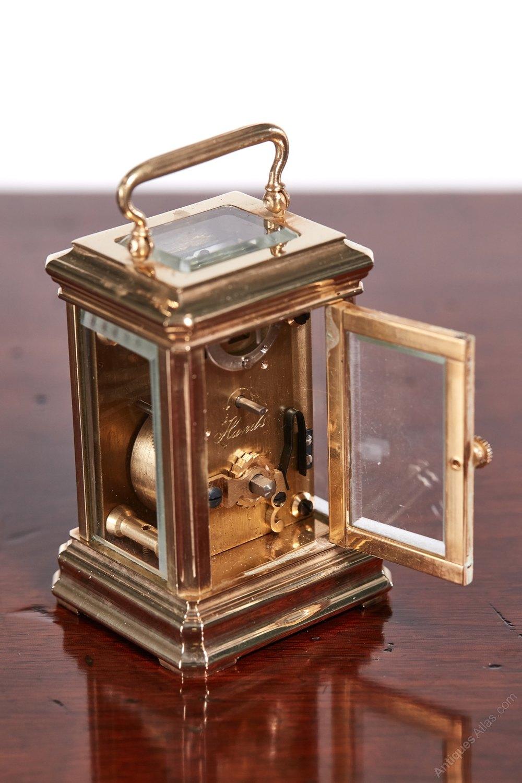 Stock Interiors Com >> Antiques Atlas - Miniature Antique French Brass Carriage Clock