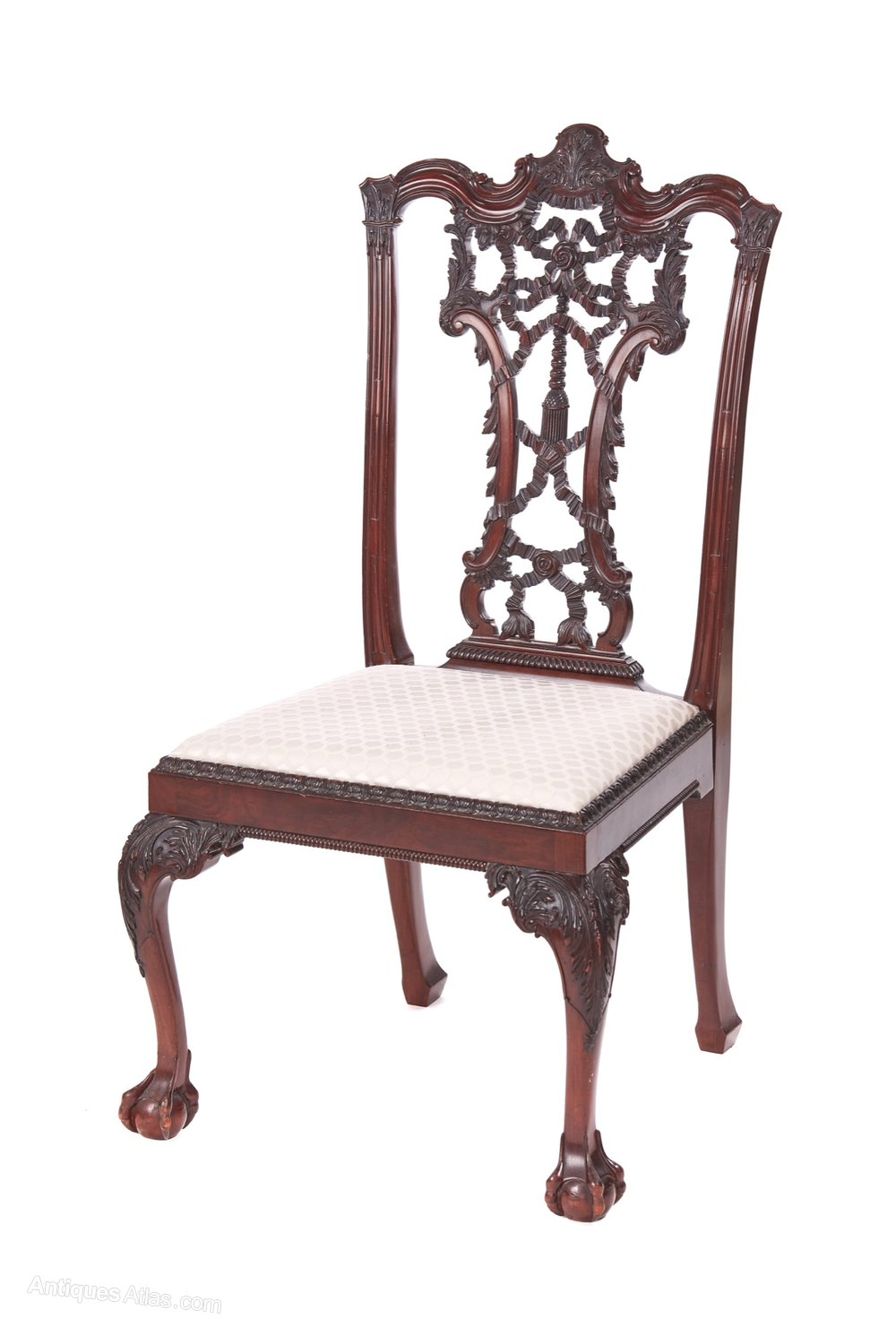 Outstanding Antique Carved Mahogany Desk Chair Antiques