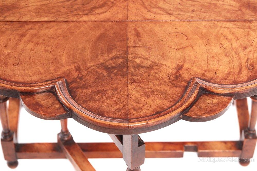 Drop Leaf Tables Walnut English 20th Century Coffee Table