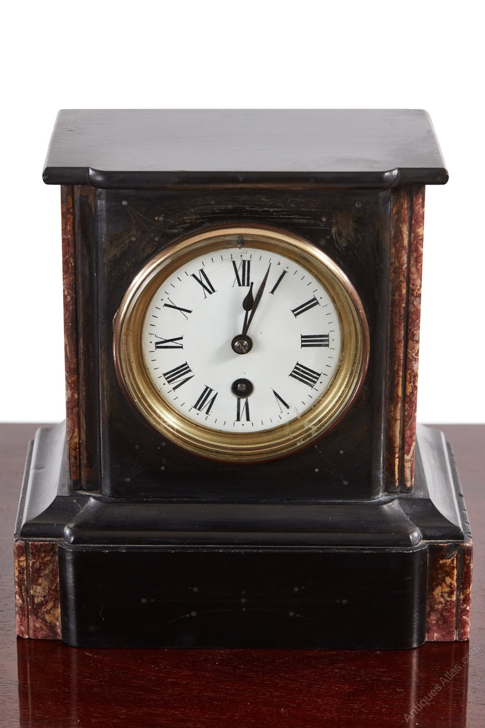 Antiques Atlas Victorian Black Marble Mantel Clock