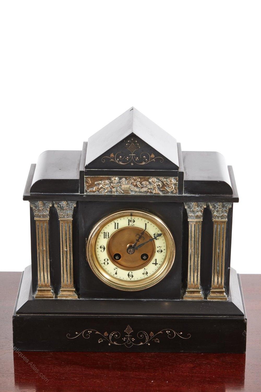 Antiques Atlas Victorian Black Marble Mantel Clock C 1860