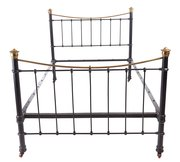 Nice  Antiques And Interiors Victorian Brass and Iron Bed