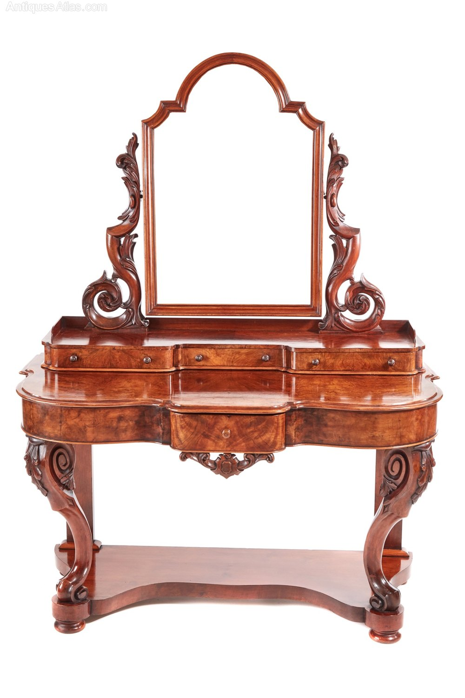 Victorian burr walnut dressing table antiques atlas for Walnut dressing table