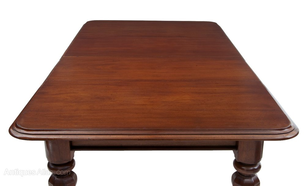 William Iv Solid Mahogany Extending Dining Table Antiques Atlas