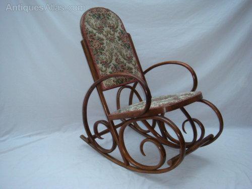 Victorian Bentwood Rocking Chair Antique ... - Victorian Bentwood Rocking Chair - Antiques Atlas