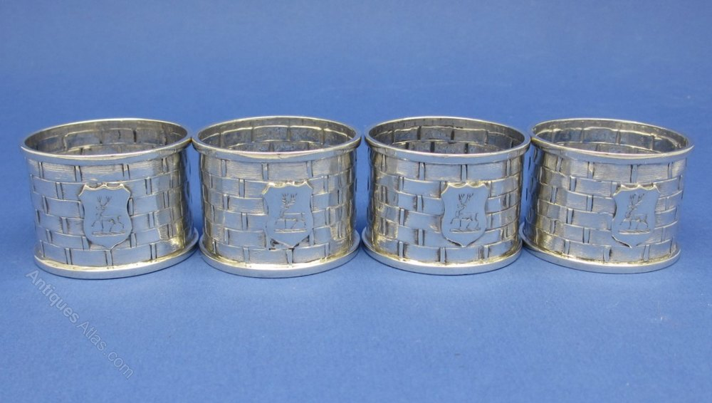 Stag Napkin Rings Silver