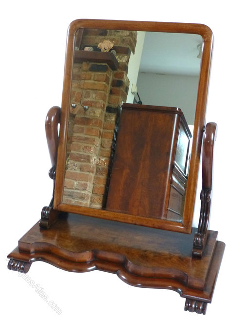 Antiques atlas victorian mahogany large dressing table for Wide dressing table