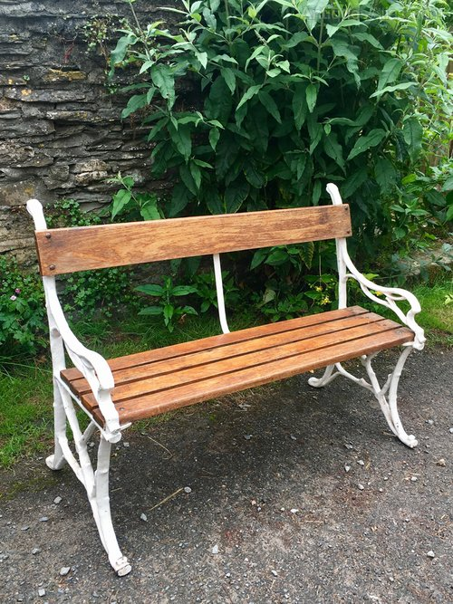 Garden Bench With Cast Iron Branch Ends