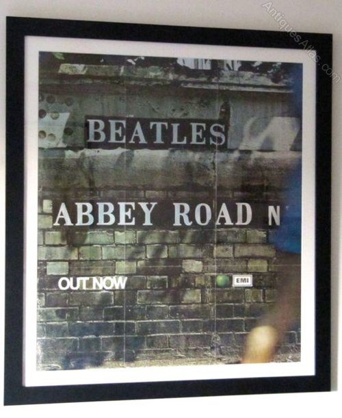 Rare Beatles Promo Poster For Abbey Road
