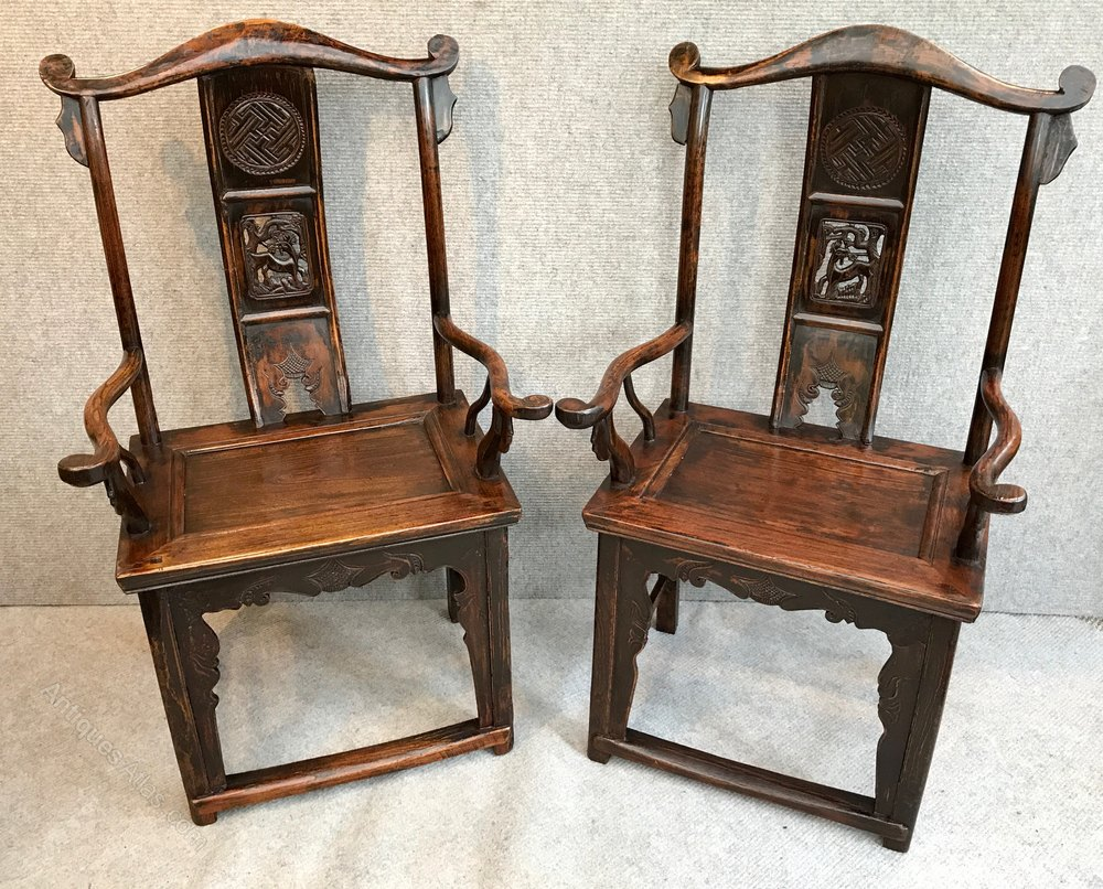 Pair Of Chinese Chairs Antiques Atlas