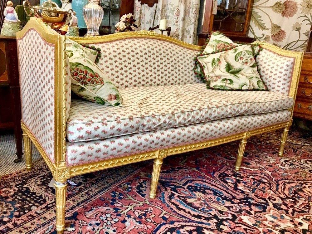 French Gilt Canape - Antiques Atlas