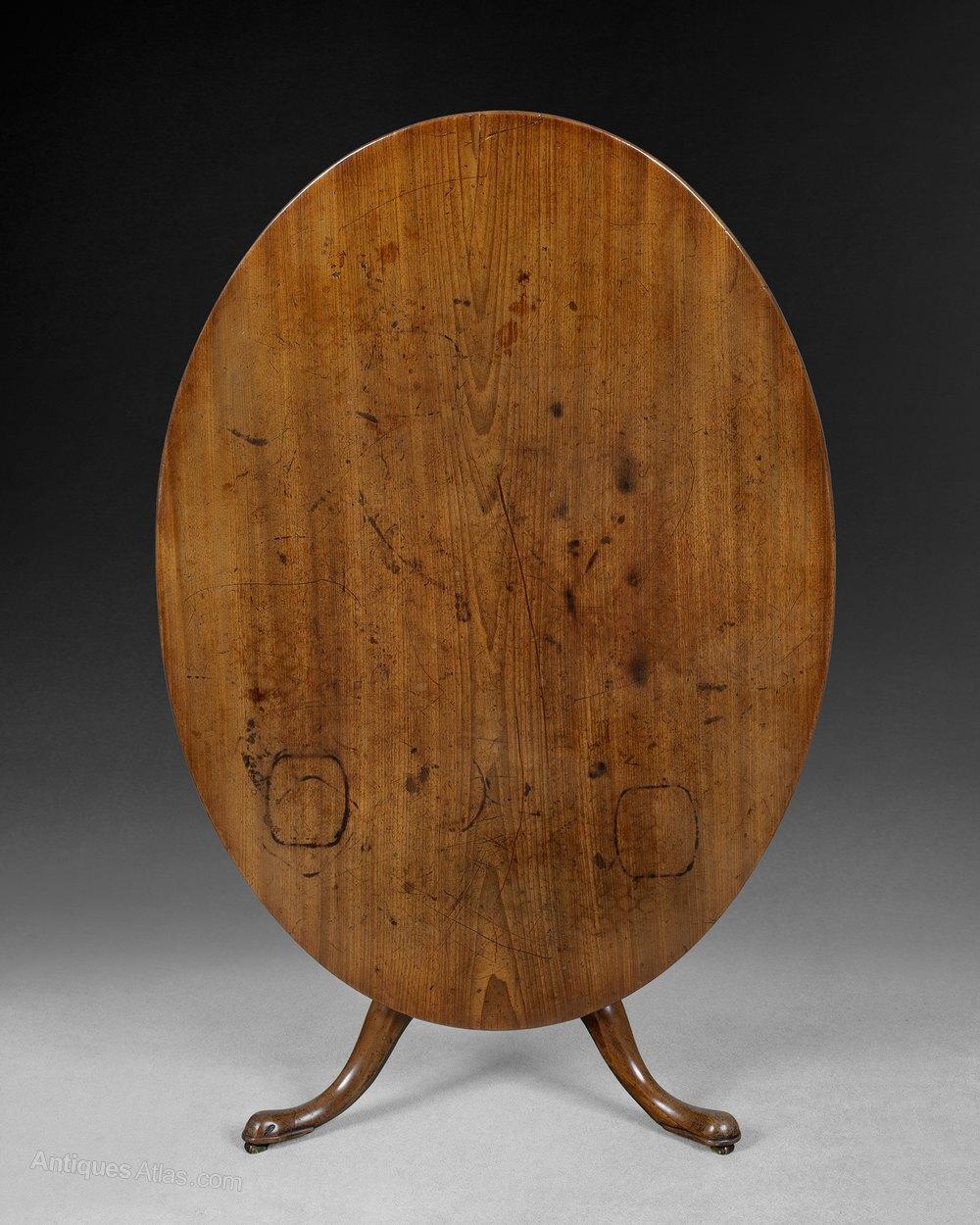 Mid 18th Century Mahogany Oval Breakfast Table Antiques