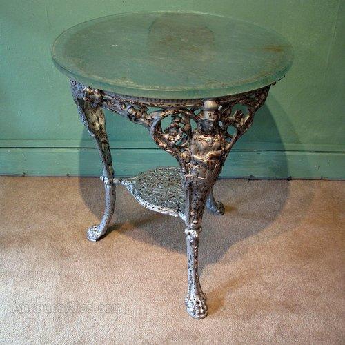 A Victorian Cast Iron Pub Table