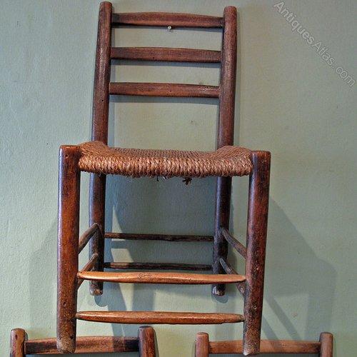 Kitchen Chairs Ireland: Set Of Irish Sugan Kitchen Chairs