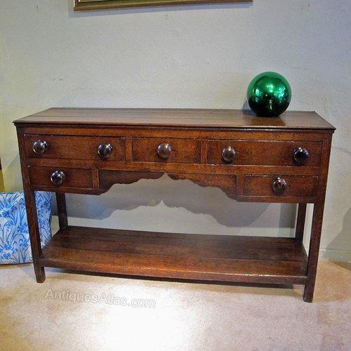 Welsh Oak Dresser Base From