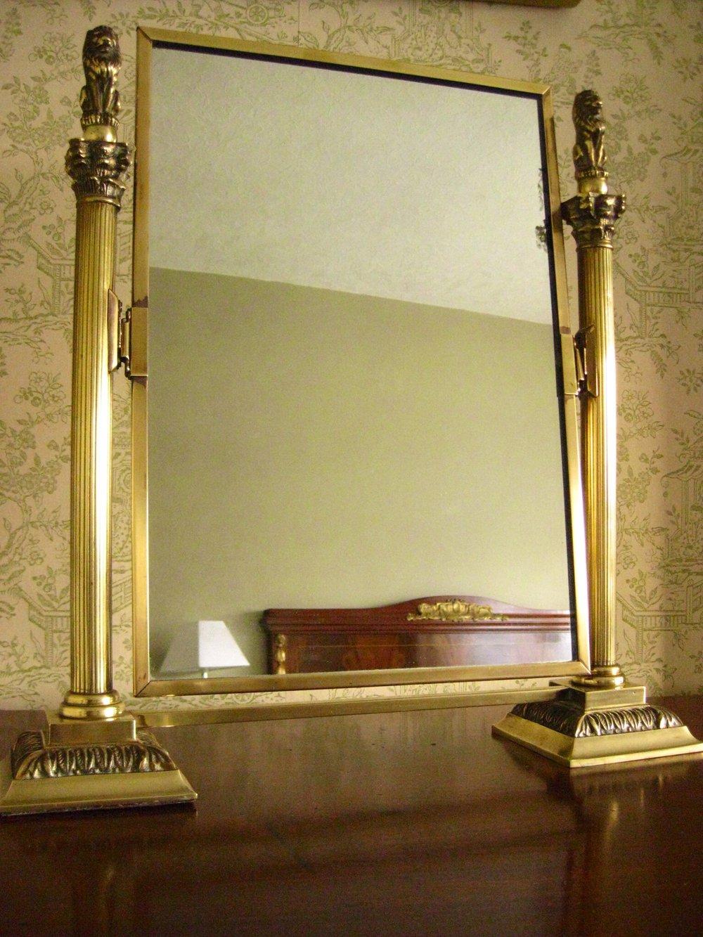 Brass Framed Toilet Dressing Table Mirror