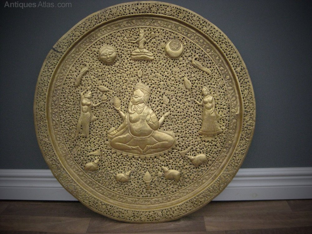 Antiques Atlas - Late Victorian Indian Brass Wall Charger