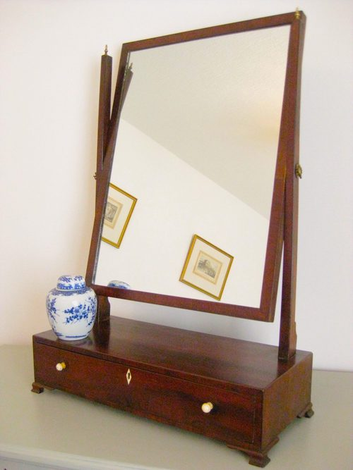 Attractive Large Mahogany Toilet/Dressing Table Mirror