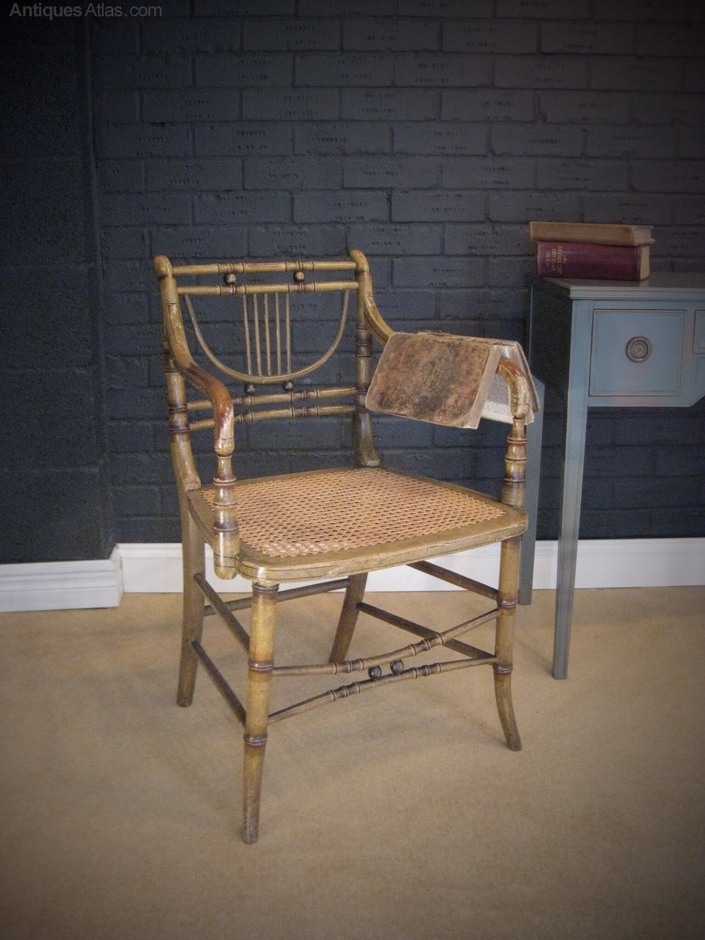 Regency Faux Bamboo Chair With Original Paint Antiques Atlas