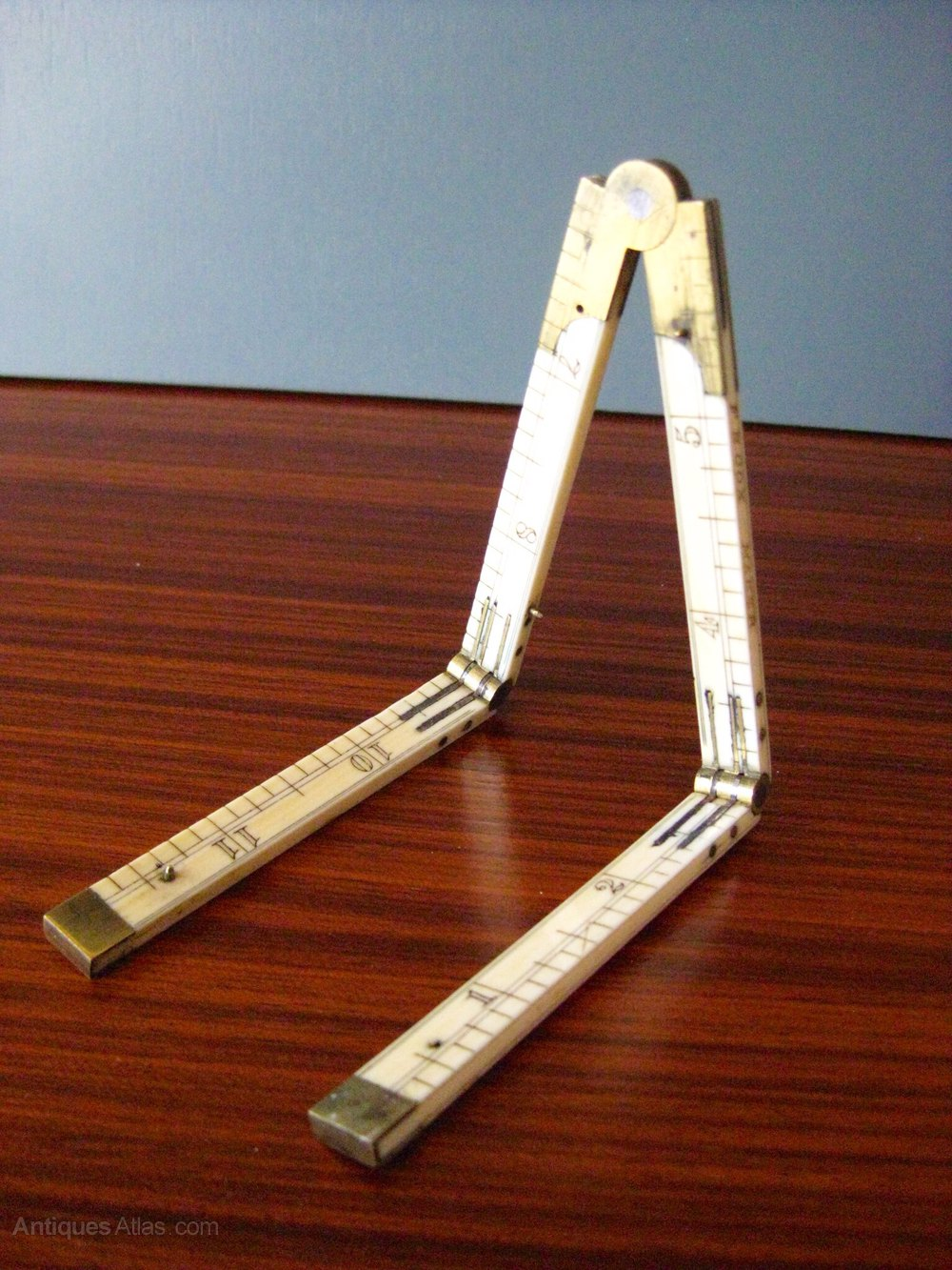 Picture of: Antiques Atlas Victorian Ivory Folding Ruler