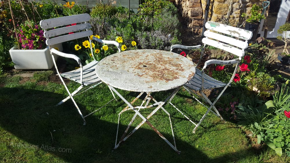 Antiques atlas french metal garden chairs table French metal garden furniture